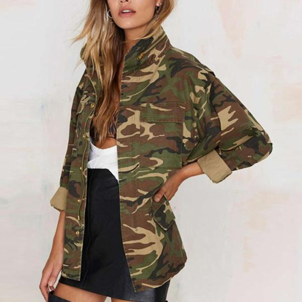 [Camouflage jacket] [camo jacket] [army green jacket] [army green coat] [jacket] {army jacket]