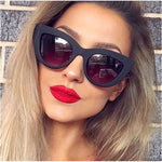 MATT BLACK CAT EYE SUNGLASSES sunglasses - Zia Clothing Company