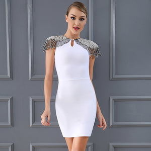 EMBELLISHED MINI COCKTAIL DRESS