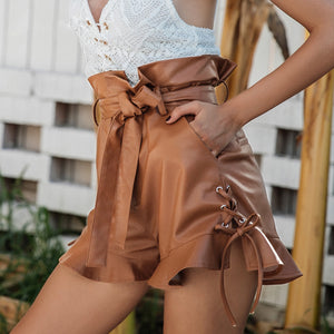 SEXY LEATHER SHORTS Trousers - Zia Clothing Company