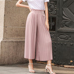 WIDE LEG PLEATED PANTS TRousers - Zia Clothing Company