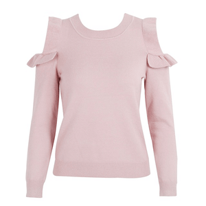 COLD SHOULDER KNITTED JUMPER  - Zia Clothing Company