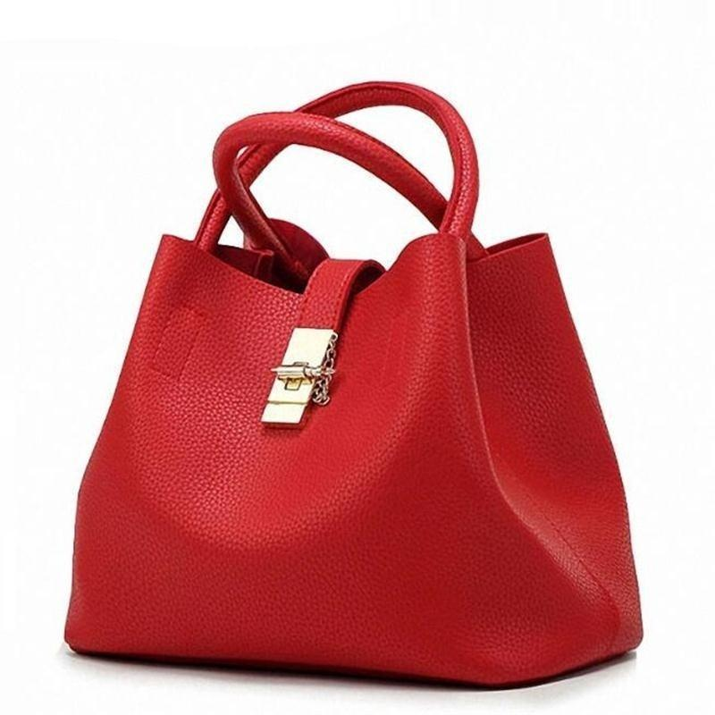 10 COLORS LEATHER HANDBAG Bag - Zia Clothing Company