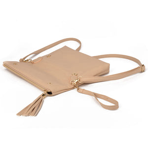 SMALL SHOULDER BAG WITH TASSEL  - Zia Clothing Company