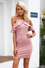 COLD SHOULDER BODYCON DRESS Dress - Zia Clothing Company
