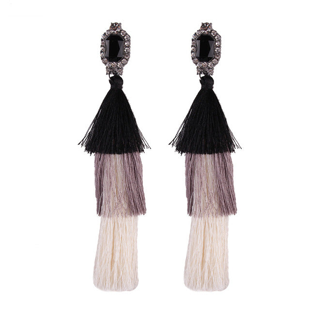 LONG TASSEL BOHEMIAN EARRINGS Accessories - Zia Clothing Company