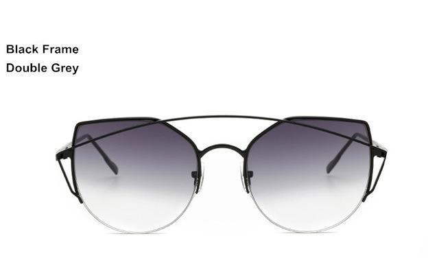 CAT EYE METAL FRAME GRADIENT SUNGLASSES SUNGLASSES - Zia Clothing Company