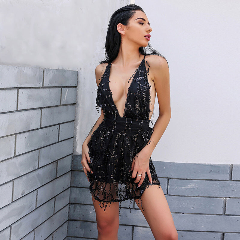 SEXY SEQUIN JUMPSUIT Jumpsuit - Zia Clothing Company