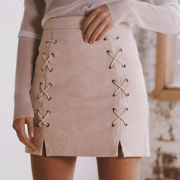 LEATHER PENCIL SKIRT Skirt - Zia Clothing Company