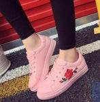 PINK FLORAL SNEAKERS Shoes - Zia Clothing Company