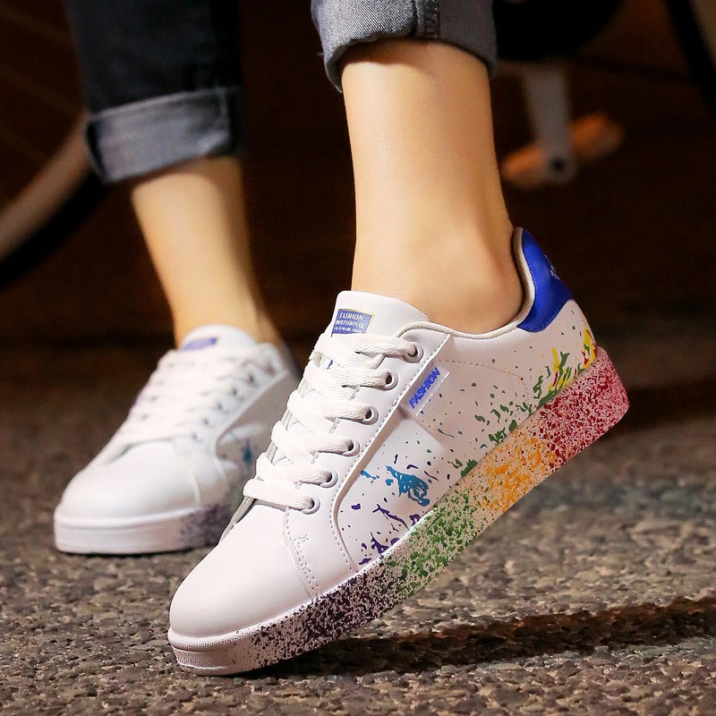 RAINBOW CLASSIC SNEAKERS Shoes - Zia Clothing Company