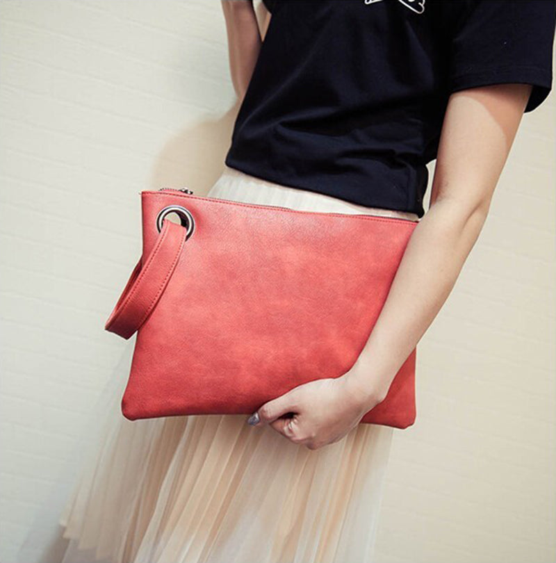 CLUTCH GENUINE LEATHER BAG  - Zia Clothing Company
