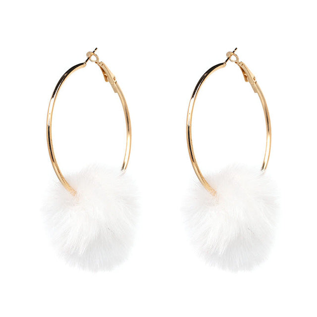 VINTAGE POM POM EARRINGS Accessories - Zia Clothing Company