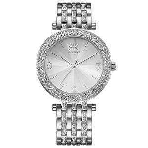 CRYSTAL SILVER DECOR WATCH  - Zia Clothing Company
