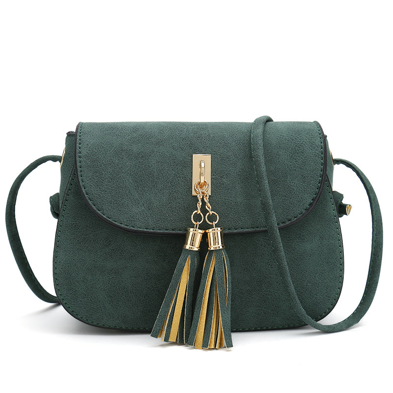 NUBUCK TASSEL DECOR SHOULDER BAG Bag - Zia Clothing Company