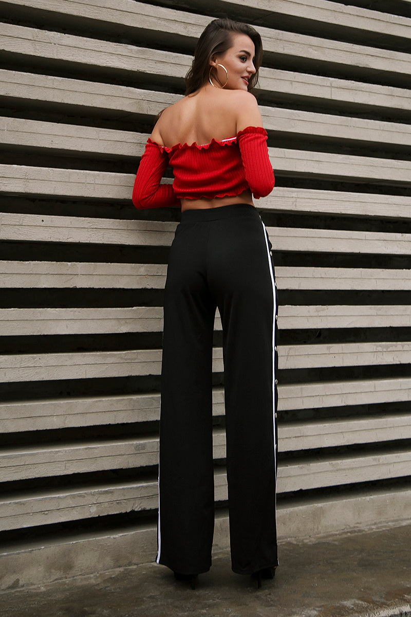 TRENDY SIDE SPLIT TROUSERS  - Zia Clothing Company