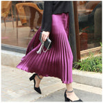 ANKLE LENGTH PLEATED SKIRT Skirt - Zia Clothing Company