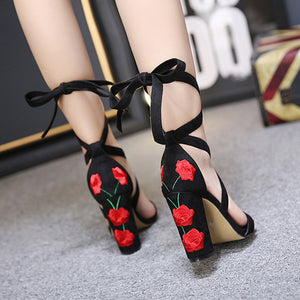 ROSE DECOR HIGH HEELS Shoes - Zia Clothing Company