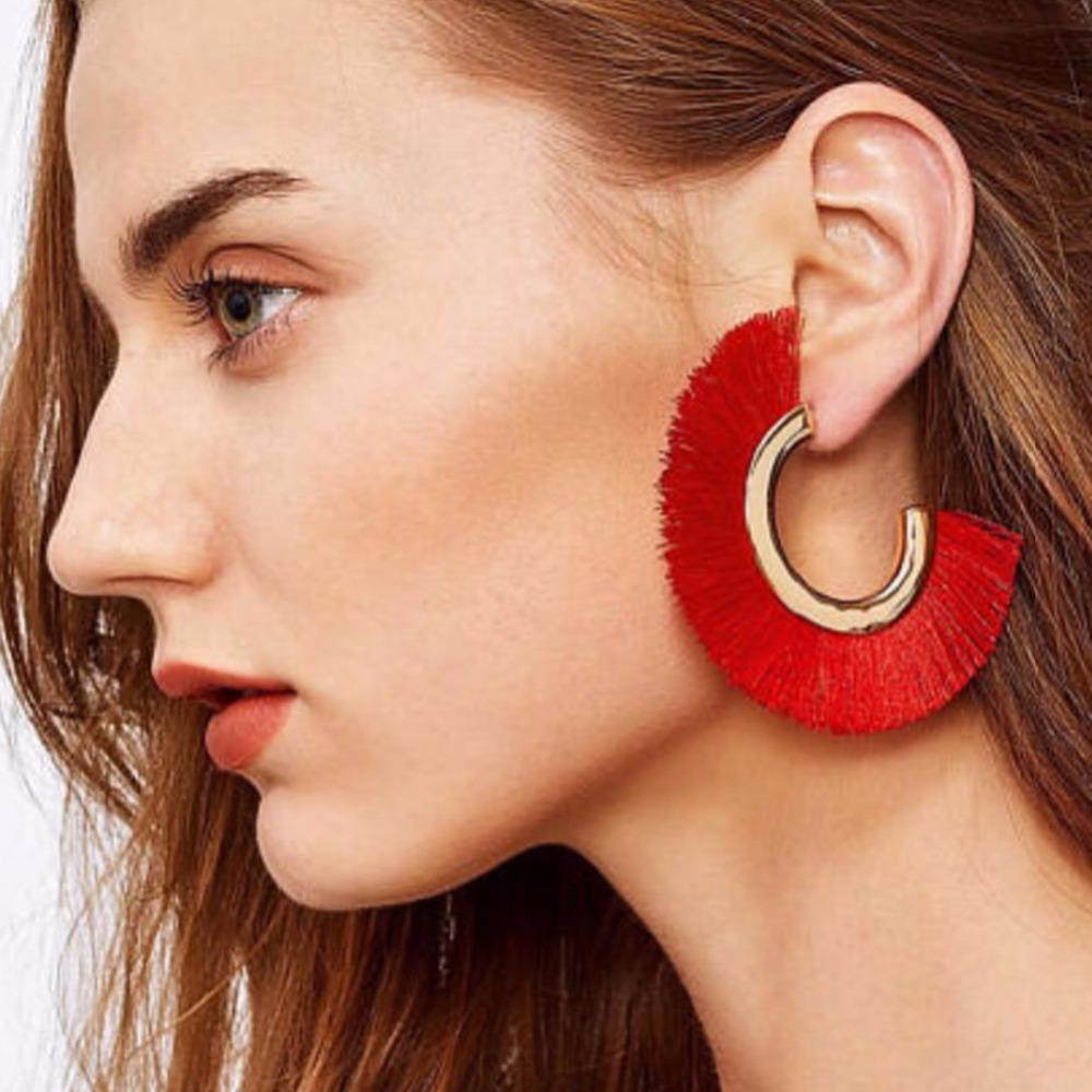 BOHEMIAN RED EARRINGS BRENDA Accessories - Zia Clothing Company