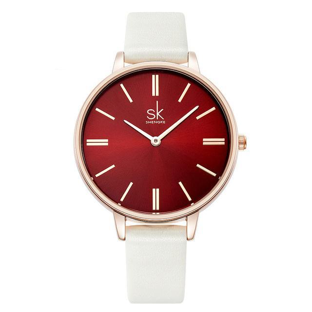 PEARL INSPIRED LEATHER WATCH WATCH - Zia Clothing Company