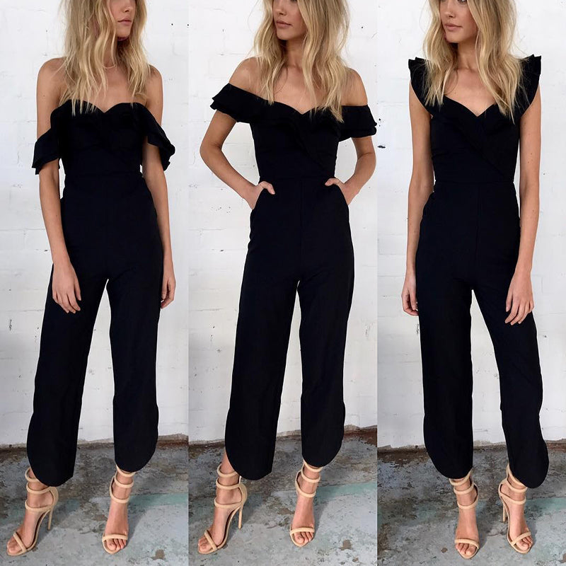 HIGH WAIST RUFFLE JUMPSUIT