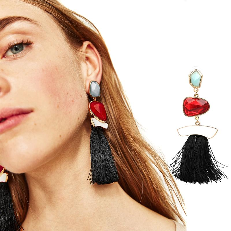 MULTI COLORED POMPOM EARRINGS Accessories - Zia Clothing Company