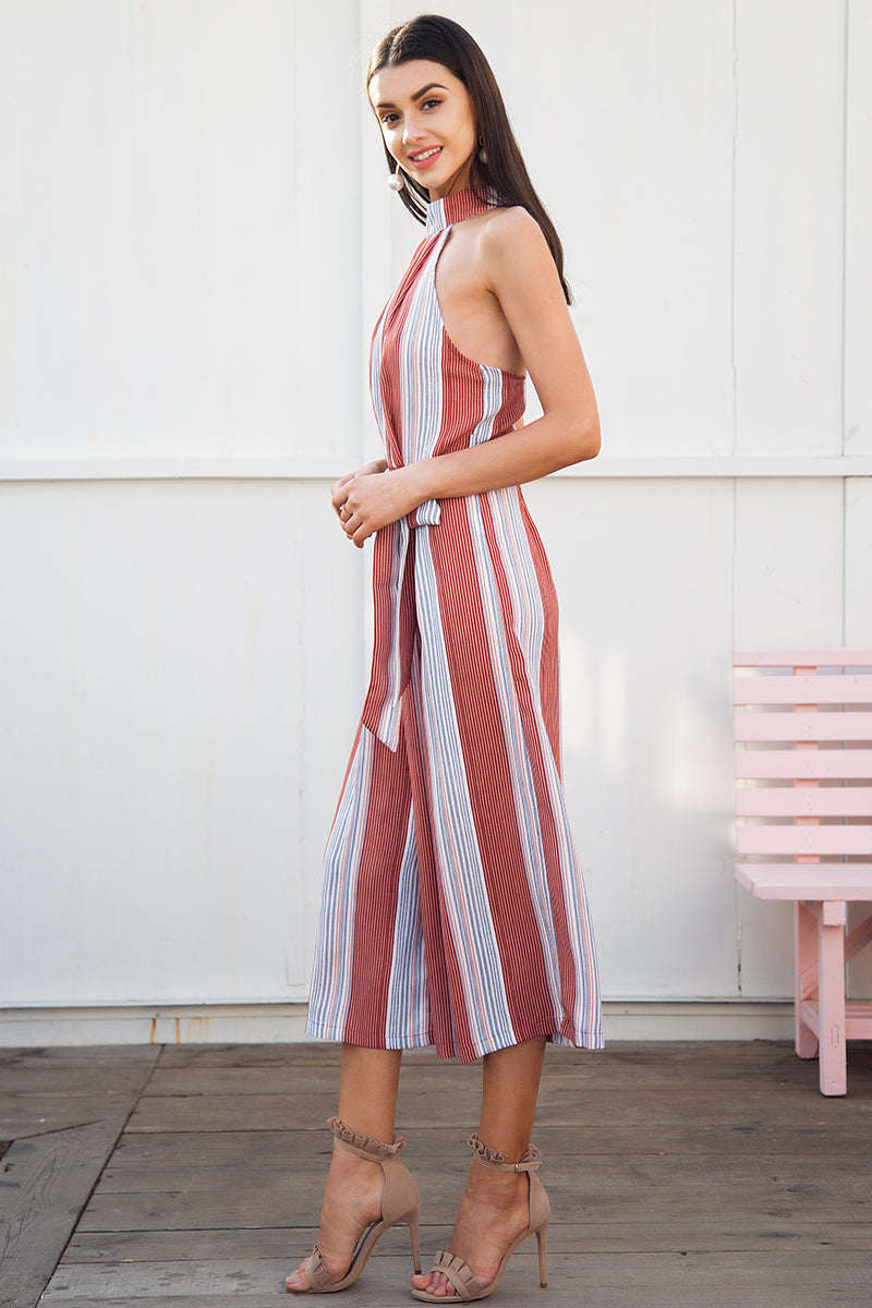 STRIPE PRINT SUMMER PLAYSUIT Playsuit - Zia Clothing Company