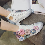 BREATHABLE SUMMER FLOWERS CASUAL SNEAKERS Shoes - Zia Clothing Company