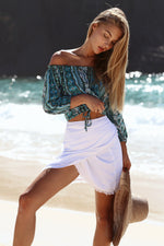 OFF SHOULDER BEACH BLOUSE