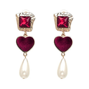 TRENDY VELVET EARRINGS JULIE Accessories - Zia Clothing Company