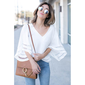 FLARE SLEEVE CUTE BLOUSE