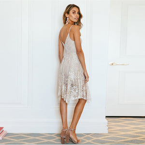 SEQUINED BOHO DRESS Dress - Zia Clothing Company