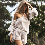 TWO PIECE OFF SHOULDER PLAYSUIT Playsuit - Zia Clothing Company