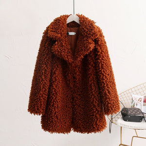 SWEET TEDDY FAUX FUR COAT