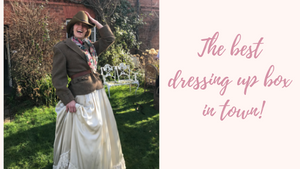 The ebst dressing up box in town! Blog post about the adventures of a boutique owner and stylist when she let ehr imagination run free to create quirky vintage looks with silk and tweed and brides in boots