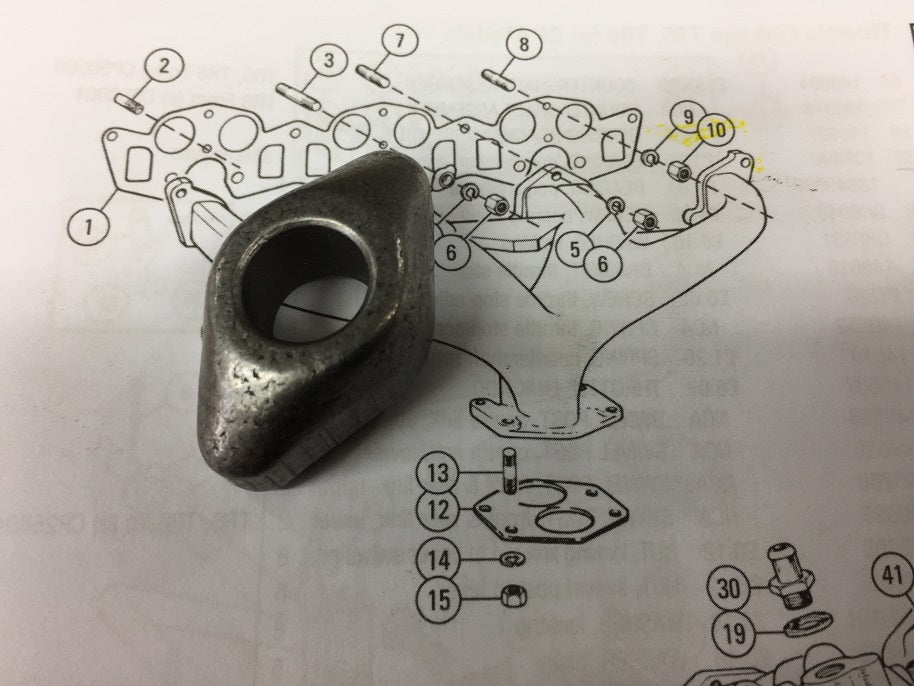 TR2-4 AND TR5/6 SMALL EXHAUST MANIFOLD CLAMP