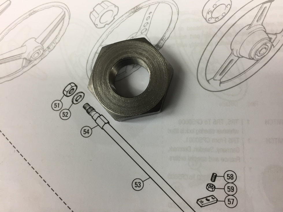 TR4A-6 STEERING WHEEL TO COLUMN NUT