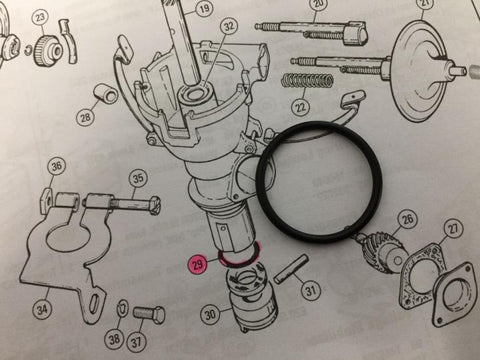 IGNITION DISTRIBUTOR SEALING O RING