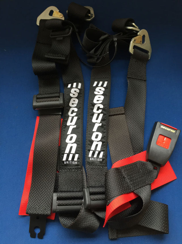 TR4-6 4 POINT SECURON RALLY/ RACE HARNESS.