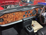 TR6 CR DASHBOARD IN BURR ELM!