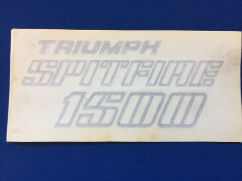 TRIUMPH SPITFIRE 1500 BOOT DECAL IN BLACK