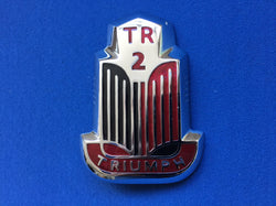 TRIUMPH TR2 BONNET BADGE