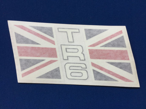 TR6 UNION JACK TRANSFERS PAIR