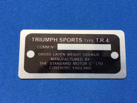 COMMISSION PLATE TR4