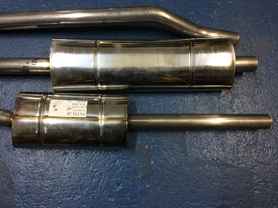TR2-4 STAINLESS STEEL STANDARD EXHAUST SYSTEM