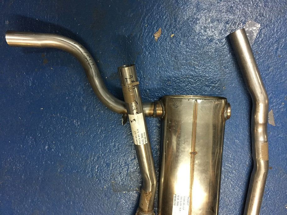 TR4A STANDARD STAINLESS STEEL EXHAUST SYSTEM