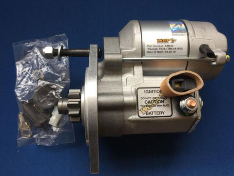 HIGH TORQUE STARTER MOTOR LATE TR3A-TR4/4A (BOLT ON RING GEAR)