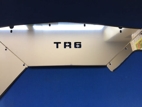 STAINLESS STEEL TR6 PI RADIATOR COWL