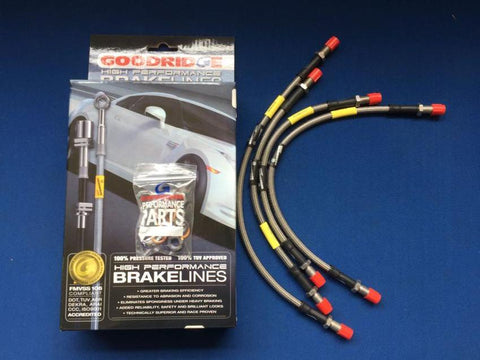 SPITFIRE MK1-4 STAINLESS STEEL BRAIDED BRAKE HOSE SET