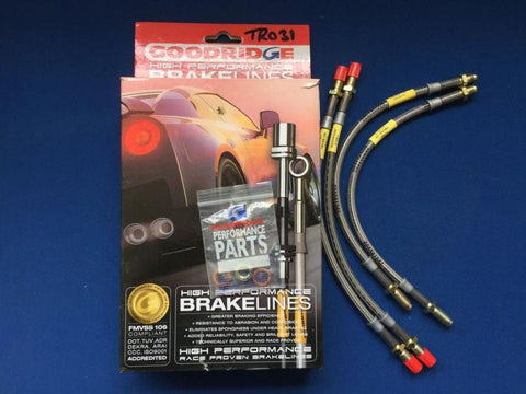 VITESSE AND GT6 STAINLESS STEEL BRAIDED BRAKE HOSE SET